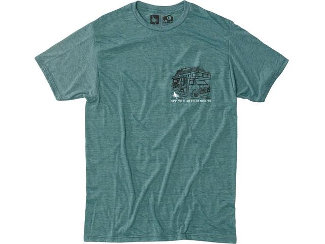 Hippy Tree Roadside Camiseta Hombre, heather teal
